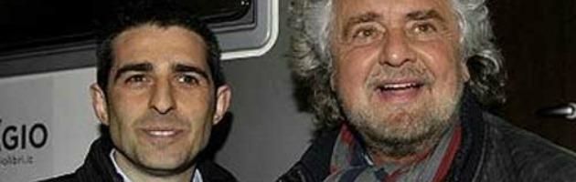 Elezioni 2013: Pizzarotti (M5S) a colloquio con il sindaco Pd di Bologna, Merola
