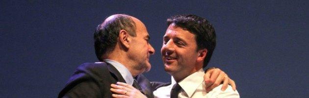 Sondaggi, dopo Mps il Pd perde un punto e mezzo e Bersani chiede aiuto a Renzi