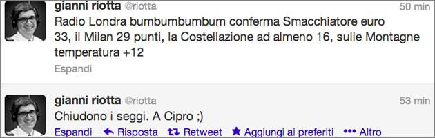 Riotta Twitter