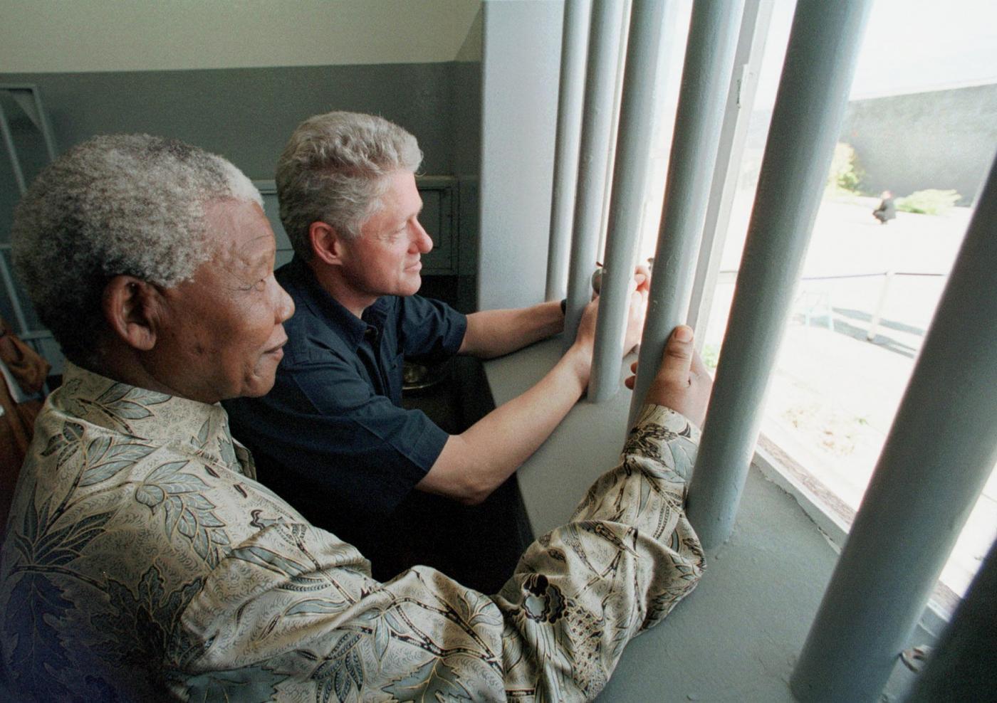 1998 -  A Robben Island con Clinton