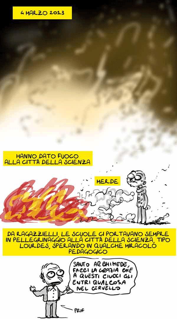 Città della Scienza - Vignetta Natangelo