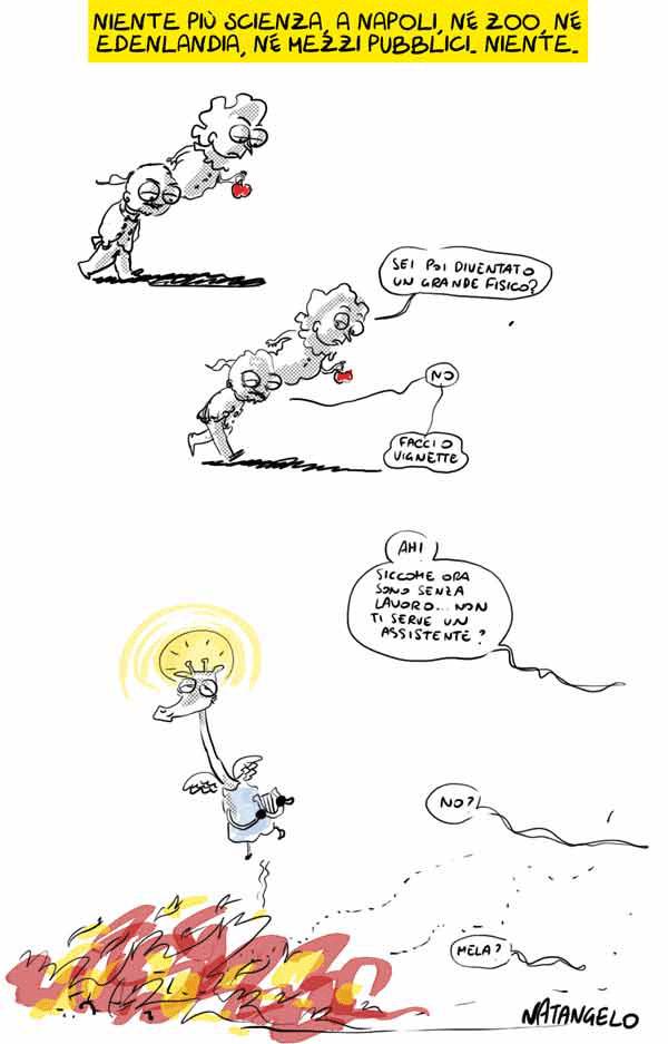 Città della Scienza - Vignetta di Natangelo