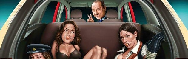 Ford Figo, Berlusconi testimonial: lui alla guida, Minetti nel bagagliaio