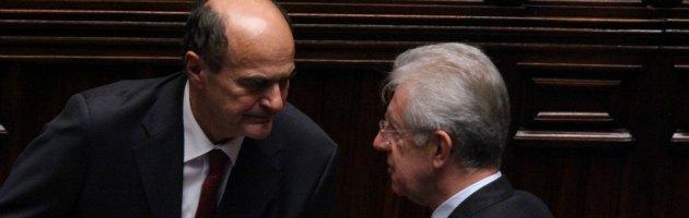 """Colloquio Bersani-Monti: """"Subito soluzioni condivise"""""""