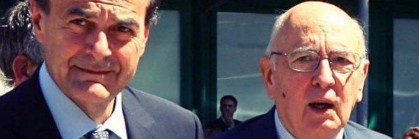 Pier Luigi Bersani e Giorgio Napolitano