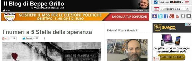 """M5S, sul blog di Grillo: """"Martinelli e Messora non sono portavoce"""""""
