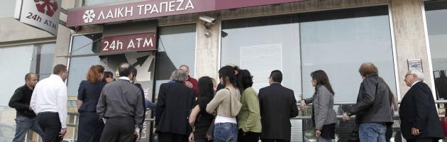 Cipro, ok della Troika: prelievo forzoso del 20% su conti oltre 100mila euro