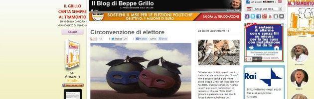 """Grillo: """"In Parlamento si pratica la 'circonvenzione di elettore'"""""""