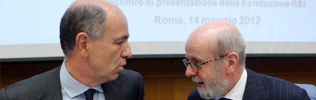 Corrado Passera ed Enrico Cucchiani