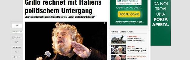 """Grillo: """"Referendum online sull'Euro. Monti non ha fatto il bene dell'Italia"""""""