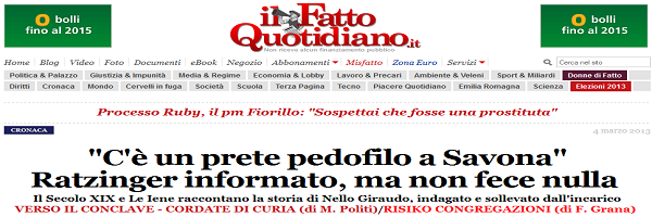 Homepage Ilfattoquotidiano.it