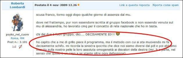 Roberta Lombardi VS Beppe Grillo