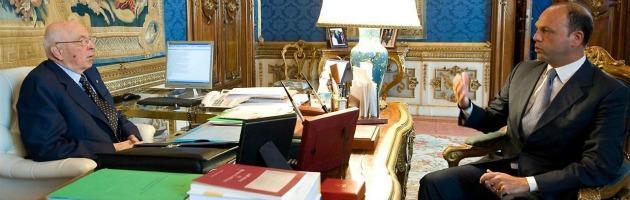 Giorgio Napolitano e Angelino Alfano