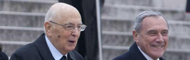 Giorgio Napoliano e Pietro Grasso