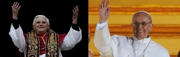 """Papa Francesco e Ratzinger, la distanza tra il """"parroco del mondo"""" e il professore"""