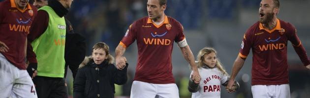 Francesco Totti con i figli