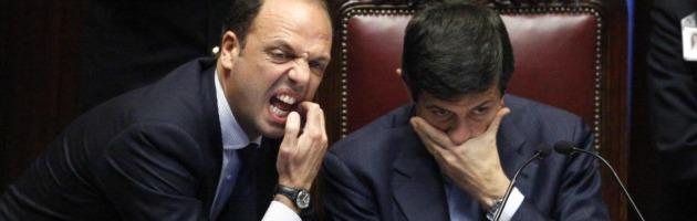 Angelino Alfano e Maurizio Lupi