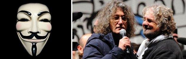 """Hackeraggio contro il M5S: """"Trasparenza sui redditi di Grillo e Casaleggio"""""""