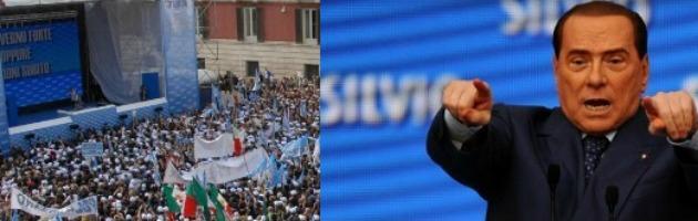 Berlusconi trionfa a Bari e sulla strada verso il Colle mette Bersani all'angolo