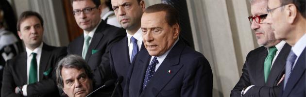 Silvio Berlusconi e i vertici Pdl