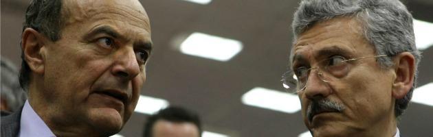 """Pd, D'Alema: """"Nessuna guerra con Bersani"""". E Marino: """"Serve una guida"""""""