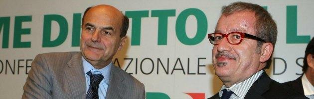 Pier Luigi Bersani e Roberto Maroni