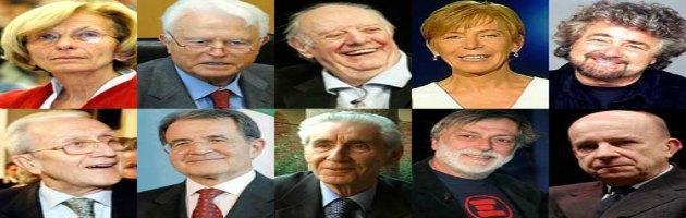 Quirinale 2013, ecco i candidati 5 Stelle. Tra loro Grillo, Prodi, Rodotà e Zagrebelsky