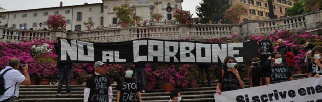 No al Carbone in Piazza di Spagna