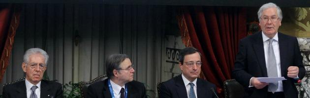 Monti, Visco, Draghi e King