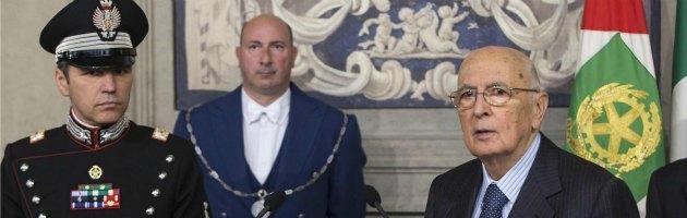 """Napolitano, il giuramento: """"Imperdonabile nulla di fatto su riforme"""" (video)"""