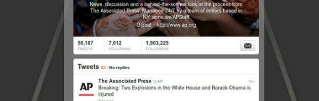 Falso tweet AP