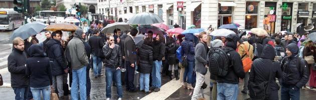 Parlamentari 5 stelle in Piazzale Flaminio