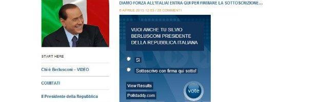 """""""Vuoi anche tu Berlusconi al Quirinale?"""" Ecco il sondaggio in cui puoi dire solo """"sì"""""""