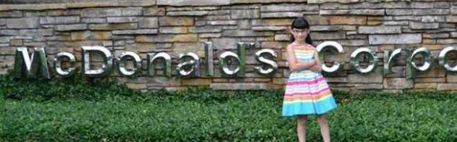 Hannah, la piccola pasionaria che si ribella a McDonald's
