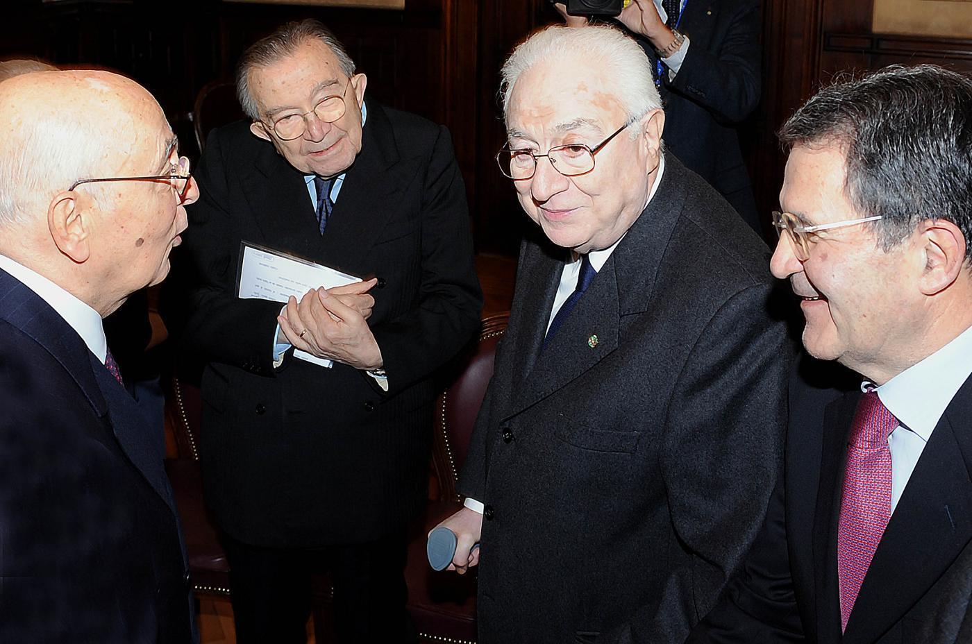 Con Cossiga, Napolitano e Prodi - 2008