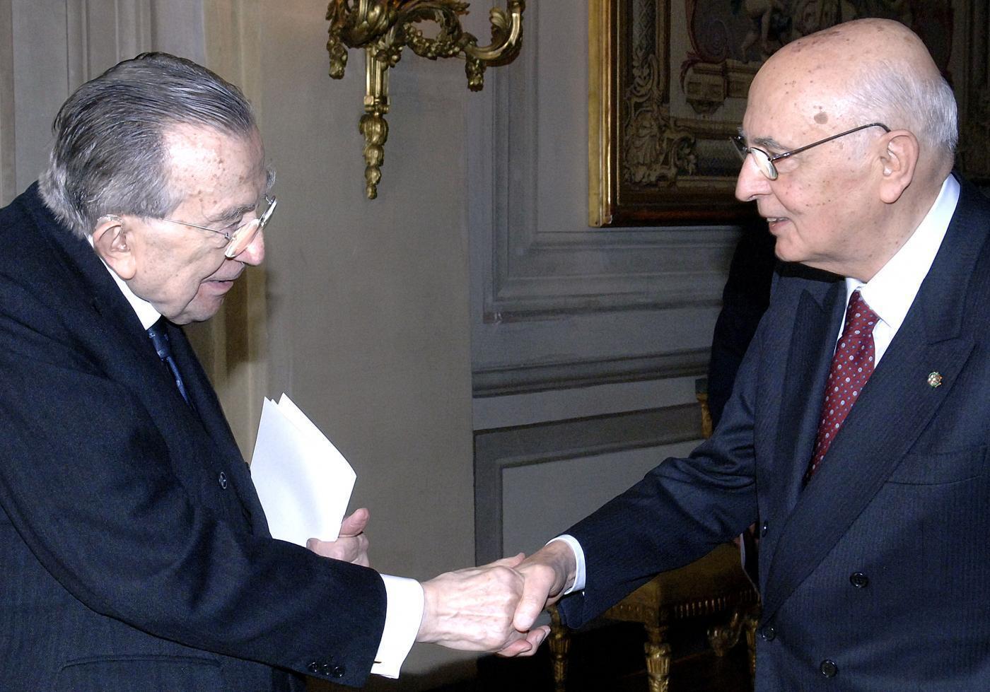Con Giorgio Napolitano - 2007