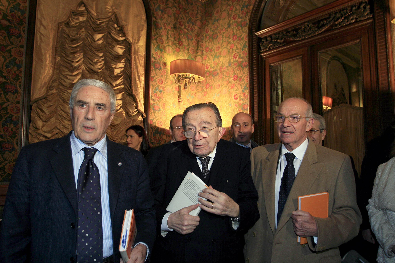 Franco Marini, Giulio Andreotti e Fausto Bertinotti