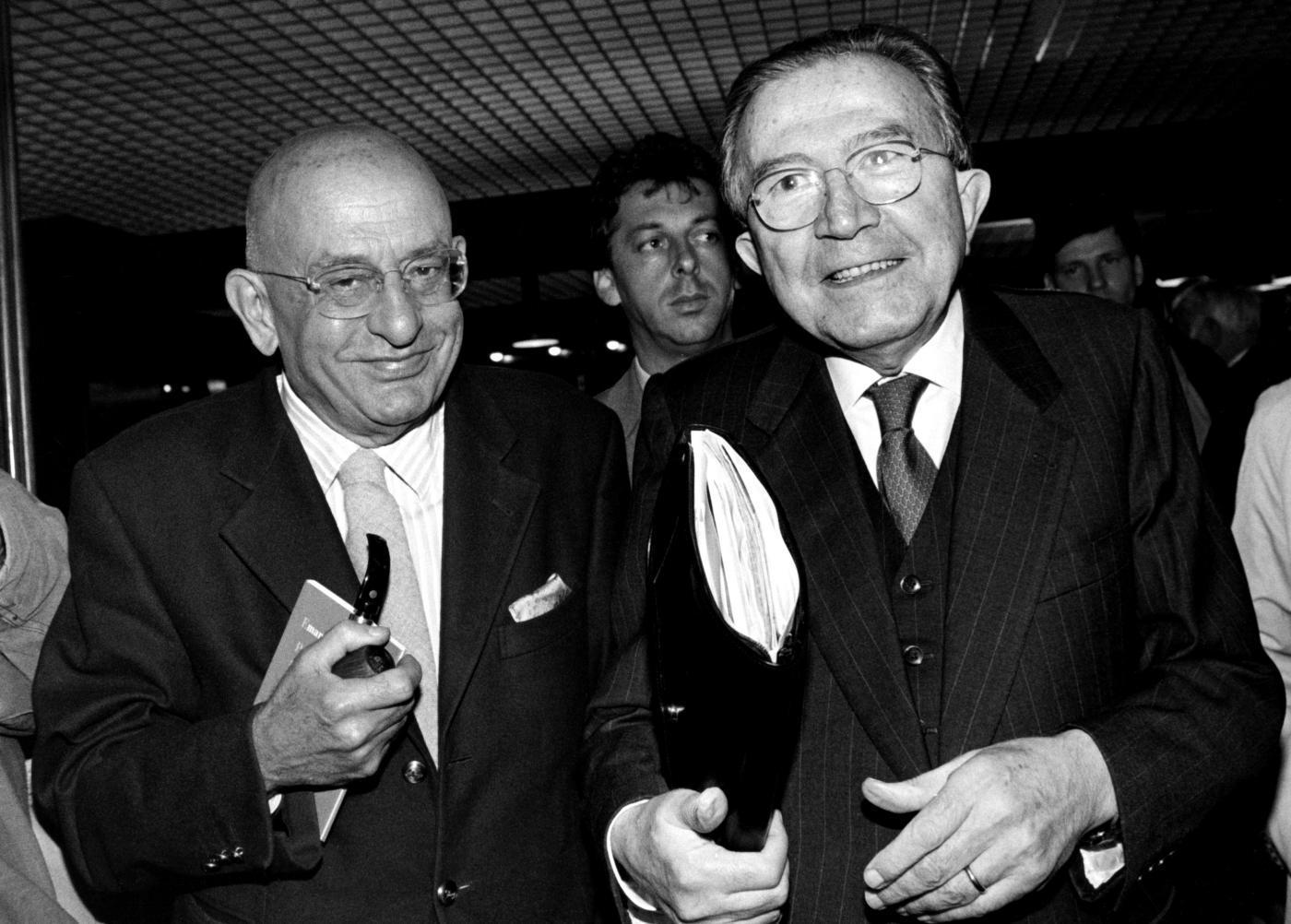Giulio Andreotti e Sandro Curzi