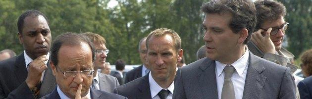 Francois Hollande e Arnaud Montebourg