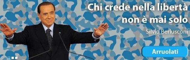 """Pdl: """"L'esercito della libertà"""", il sito per diventare """"soldato"""" di Berlusconi"""