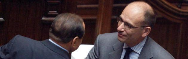 Silvio Berlusconi ed Enrico Letta