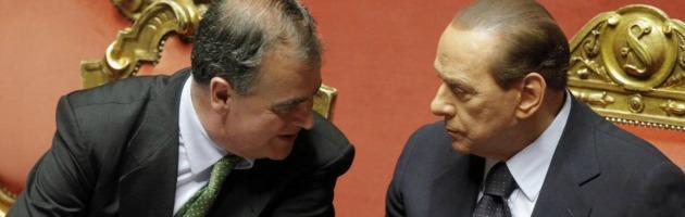Robero Calderoli e Silvio Berlusconi