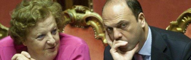 Anna Maria Cancellieri e Angelino Alfano