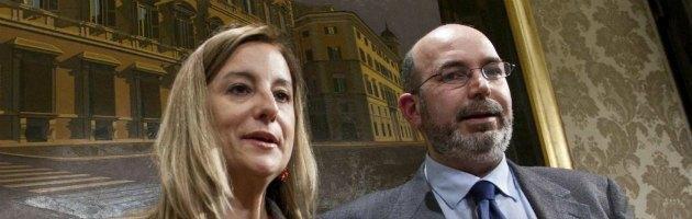 Roberta Lombardi e Vito Crimi