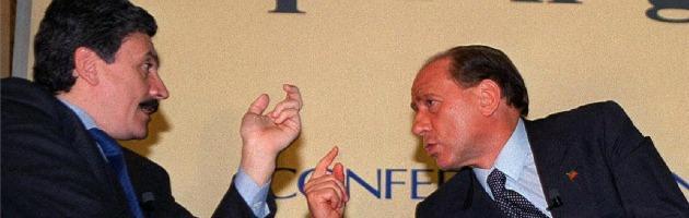 Massimo D'Alema e Silvio Berlusconi