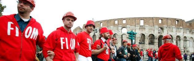 """Fiom a Roma: adesione del M5S, silenzio Pd. Landini: """"Le assenze parlano da sole"""""""