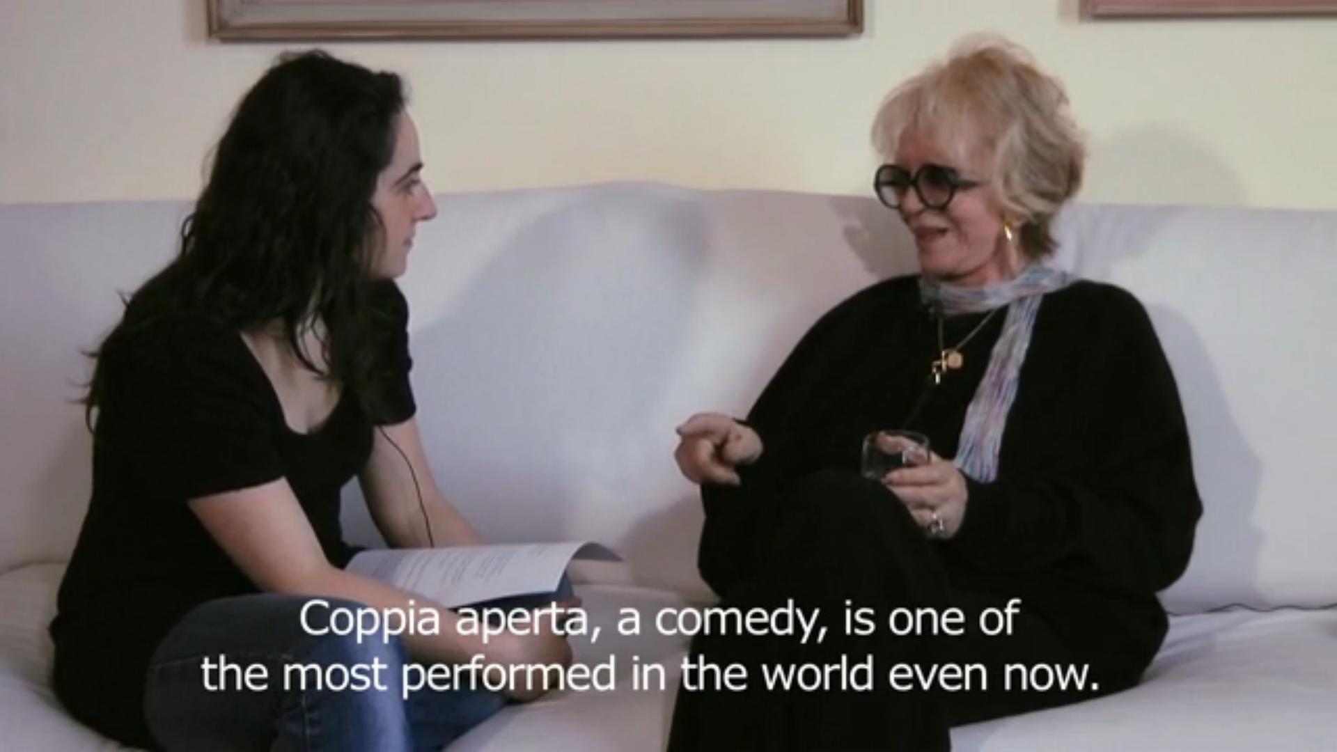 """Franca Rame, l'intervista a 'Filmine': """"In scena, dietro le quinte e oltre la quarta parete"""""""