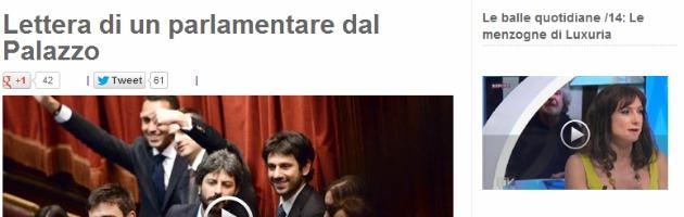 """M5S, parlamentare sul blog di Grillo: """"Palazzo fa paura, non abbandonateci"""""""