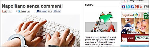 Blog di Grillo su Napolitano