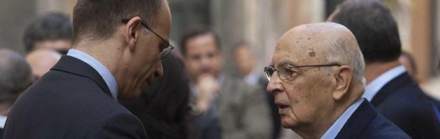 Enrico Letta e Giorgio Napolitano